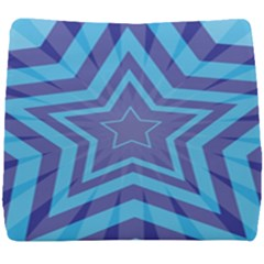 Abstract Starburst Blue Star Seat Cushion by Jojostore