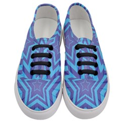 Abstract Starburst Blue Star Women s Classic Low Top Sneakers
