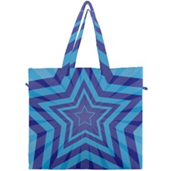 Abstract Starburst Blue Star Canvas Travel Bag by Jojostore