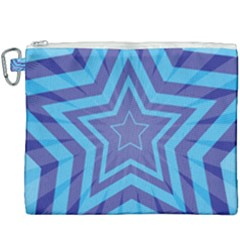 Abstract Starburst Blue Star Canvas Cosmetic Bag (xxxl) by Jojostore