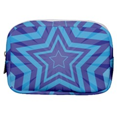 Abstract Starburst Blue Star Make Up Pouch (small) by Jojostore