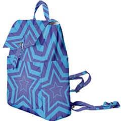 Abstract Starburst Blue Star Buckle Everyday Backpack