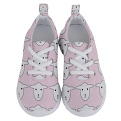 Sheep Wallpaper Pattern Pink Running Shoes