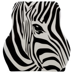 Animal Cute Pattern Art Zebra Car Seat Velour Cushion  by Jojostore