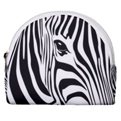 Animal Cute Pattern Art Zebra Horseshoe Style Canvas Pouch by Jojostore