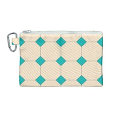 Tile Pattern Wallpaper Background Canvas Cosmetic Bag (medium) by Jojostore