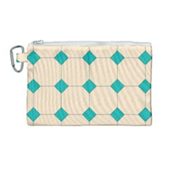 Tile Pattern Wallpaper Background Canvas Cosmetic Bag (large)
