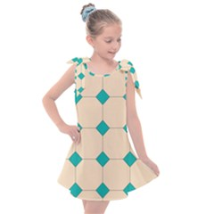 Tile Pattern Wallpaper Background Kids  Tie Up Tunic Dress
