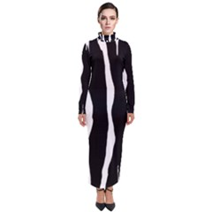 Zebra Background Pattern Turtleneck Maxi Dress by Jojostore