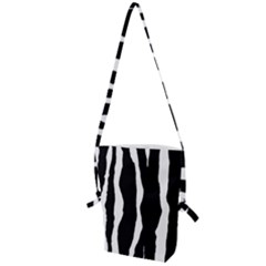 Zebra Background Pattern Folding Shoulder Bag by Jojostore
