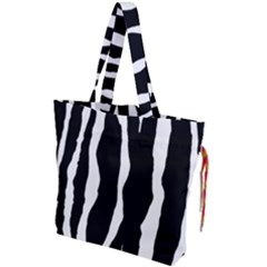 Zebra Background Pattern Drawstring Tote Bag by Jojostore