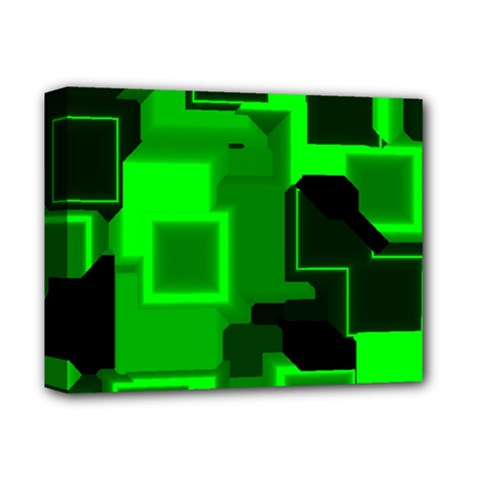 Cyber Glow Deluxe Canvas 14  X 11  (stretched) by Jojostore