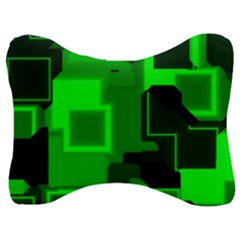 Cyber Glow Velour Seat Head Rest Cushion by Jojostore