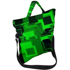 Cyber Glow Fold Over Handle Tote Bag by Jojostore