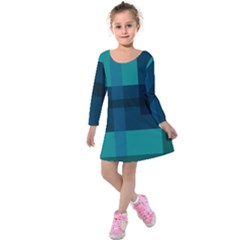 This High Quality Image Is A Bunch Of Different Size Boxes That Are Place Abstractly Kids  Long Sleeve Velvet Dress