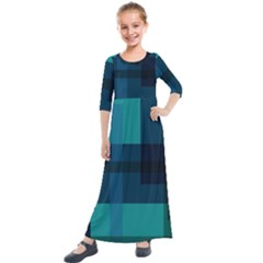This High Quality Image Is A Bunch Of Different Size Boxes That Are Place Abstractly Kids  Quarter Sleeve Maxi Dress