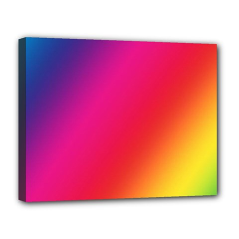 Rainbow Colors Canvas 14  X 11  (stretched) by Jojostore