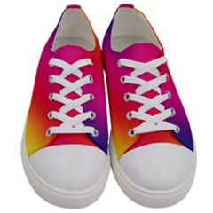 Rainbow Colors Women s Low Top Canvas Sneakers