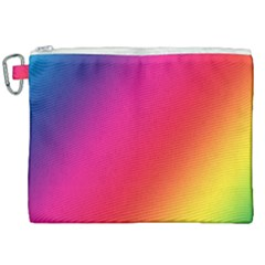 Rainbow Colors Canvas Cosmetic Bag (xxl) by Jojostore