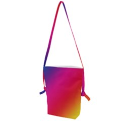 Rainbow Colors Folding Shoulder Bag by Jojostore
