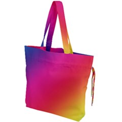 Rainbow Colors Drawstring Tote Bag by Jojostore