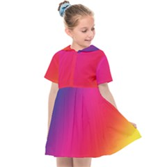 Rainbow Colors Kids  Sailor Dress