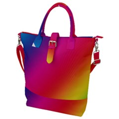 Rainbow Colors Buckle Top Tote Bag