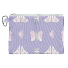 Butterfly Butterflies Merry Girls Canvas Cosmetic Bag (xl)