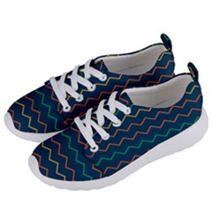 Pattern Zig Zag Colorful Zigzag Women s Lightweight Sports Shoes by Sapixe