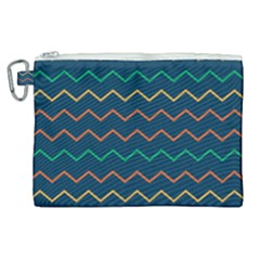 Pattern Zig Zag Colorful Zigzag Canvas Cosmetic Bag (xl)