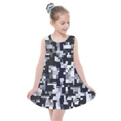 Noise Texture Graphics Generated Kids  Summer Dress