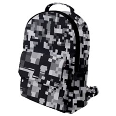 Noise Texture Graphics Generated Flap Pocket Backpack (small) by Sapixe