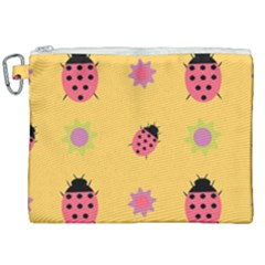 Ladybug Seamlessly Pattern Canvas Cosmetic Bag (xxl) by Sapixe