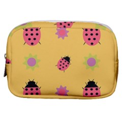 Ladybug Seamlessly Pattern Make Up Pouch (small) by Sapixe