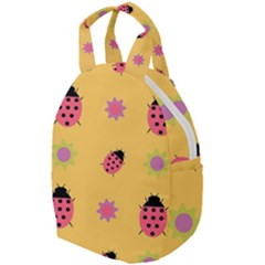 Ladybug Seamlessly Pattern Travel Backpacks by Sapixe