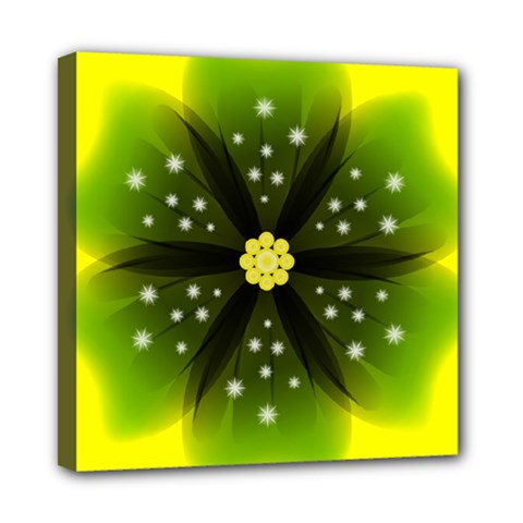 Christmas Flower Nature Plant Mini Canvas 8  X 8  (stretched) by Sapixe