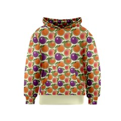 Fruit Tree Salad Pattern Kids  Pullover Hoodie by emilyzragz