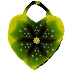 Christmas Flower Nature Plant Giant Heart Shaped Tote by Sapixe