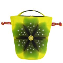 Christmas Flower Nature Plant Drawstring Bucket Bag by Sapixe