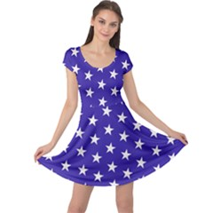 Day Independence July Background Cap Sleeve Dress
