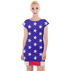 Day Independence July Background Cap Sleeve Bodycon Dress