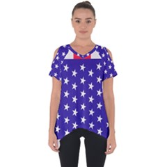 Day Independence July Background Cut Out Side Drop Tee by Sapixe