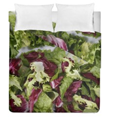Salad Lettuce Vegetable Duvet Cover Double Side (queen Size) by Sapixe