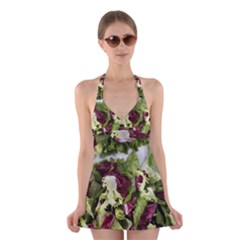 Salad Lettuce Vegetable Halter Dress Swimsuit