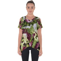 Salad Lettuce Vegetable Cut Out Side Drop Tee by Sapixe