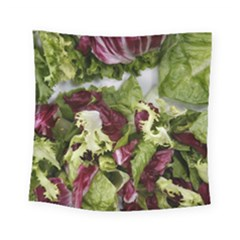 Salad Lettuce Vegetable Square Tapestry (small) by Sapixe