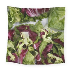 Salad Lettuce Vegetable Square Tapestry (large) by Sapixe