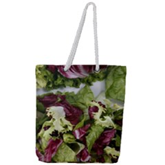 Salad Lettuce Vegetable Full Print Rope Handle Tote (large) by Sapixe
