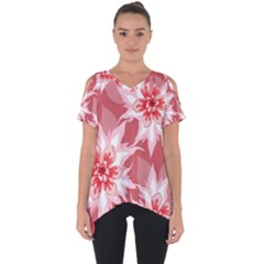 Flower Leaf Nature Flora Floral Cut Out Side Drop Tee by Sapixe