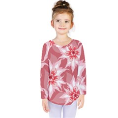 Flower Leaf Nature Flora Floral Kids  Long Sleeve Tee by Sapixe